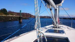 RYA Day skipper training, lateral mark
