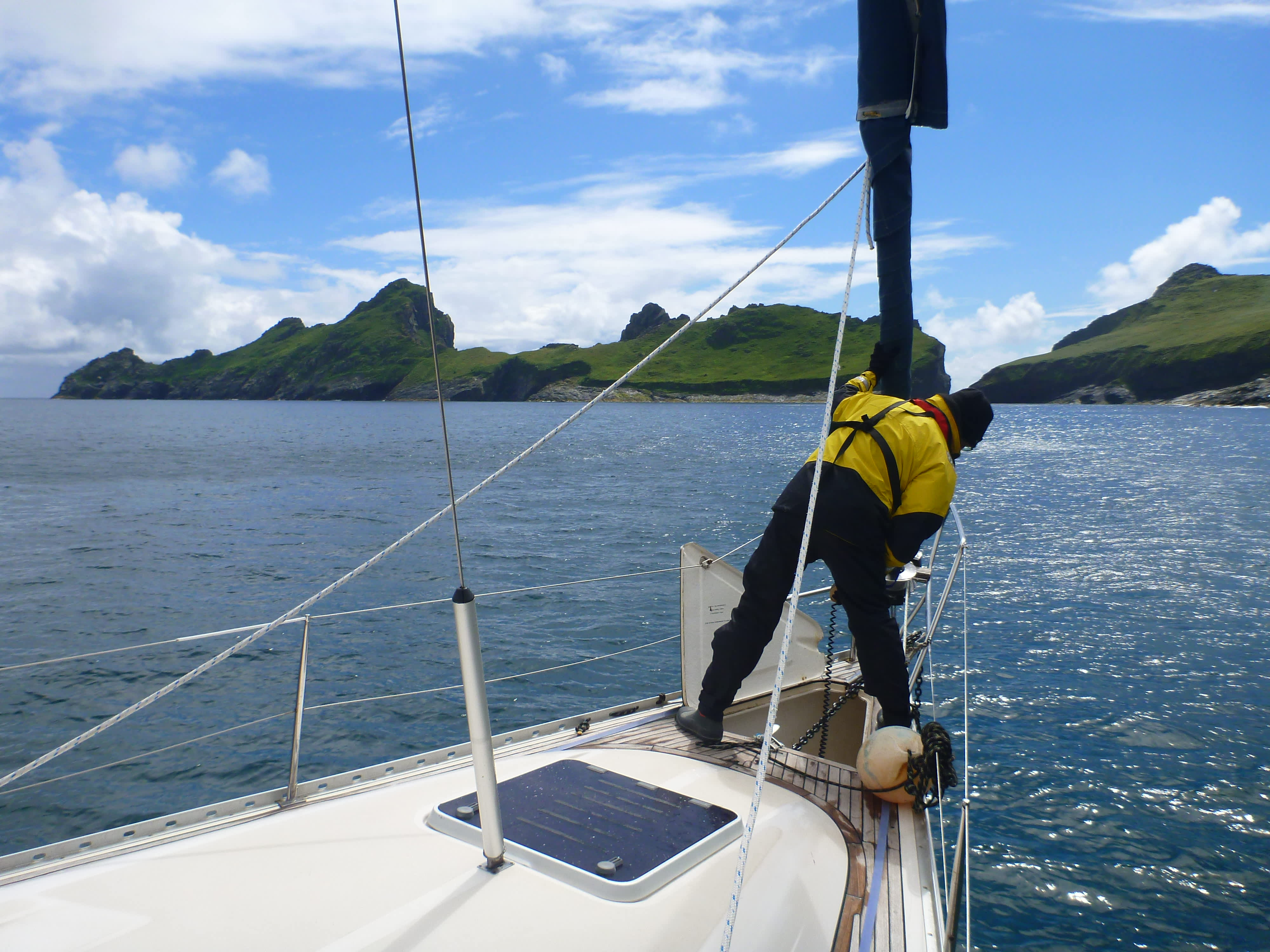 RYA Day skipper training, anchorage practicing