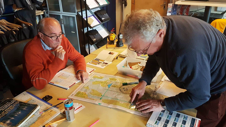 Classroom for shorebase navigation course