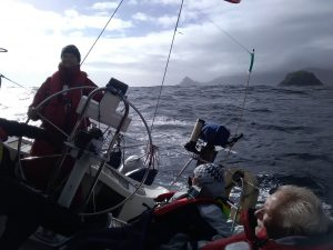 Student learning to sail in Scotland