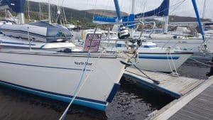 Bavaria 44 North Star at pontoon